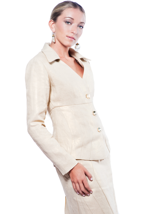 Metallic Suit Jacket Metallic Linen Suit – Empire