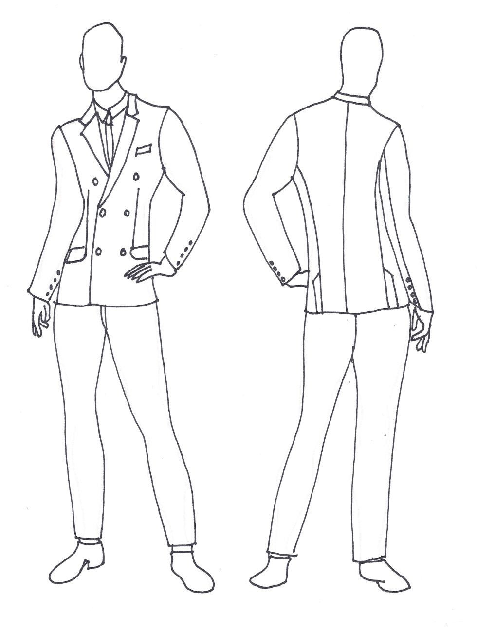 Suit_05 White Shantung